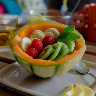 Melon en salade de fruits